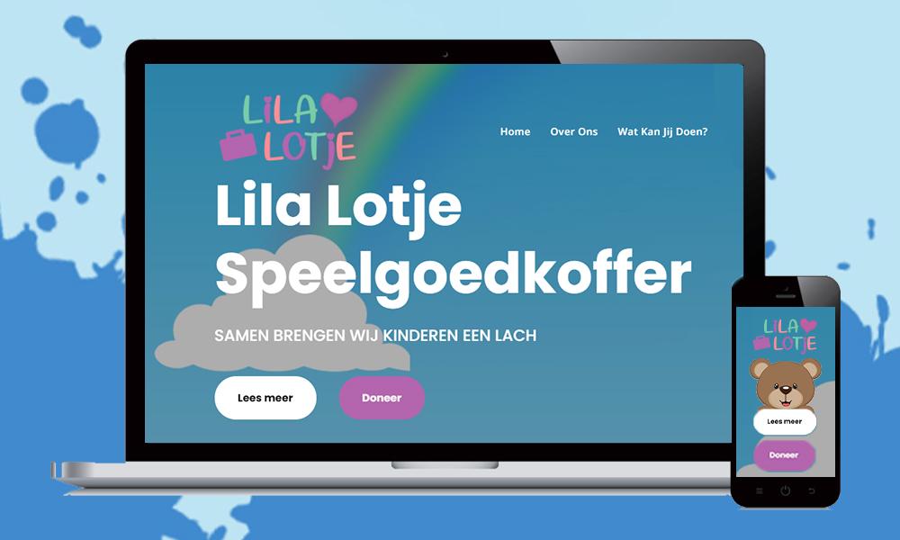 webdesign stichting lila lotje speelgoedkoffer
