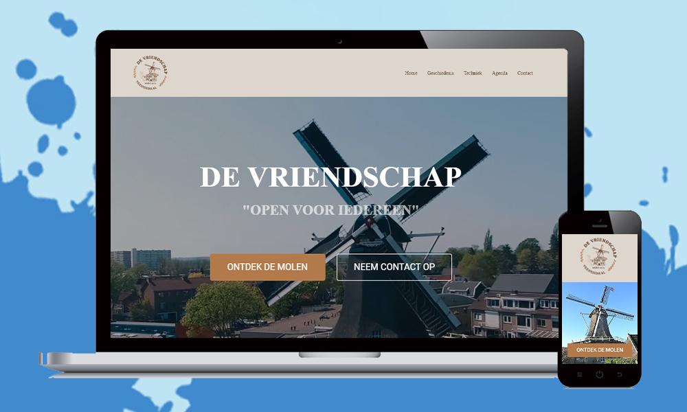 webdesign korenmolen de vriendshchap