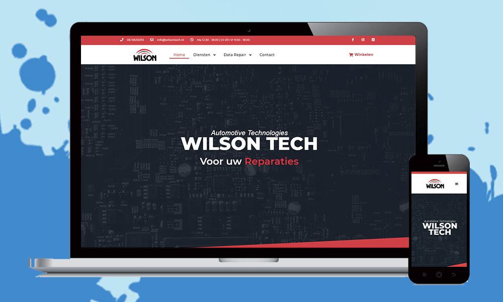 webdesign wilson tech website laten maken